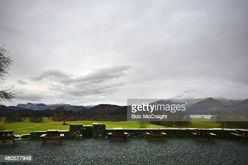 Blick vom Wray Castle : Stock-Foto