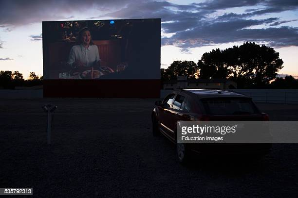 Views in car watch movie Star Drive In Movie Theater Montrose Colorado