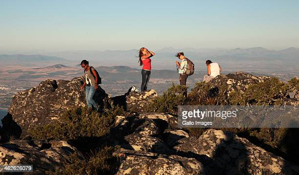 Views of Cape Town from Table Mountain on January 2 2014 in Cape Town South Africa Cape Town has been named the number one place to visit this year...