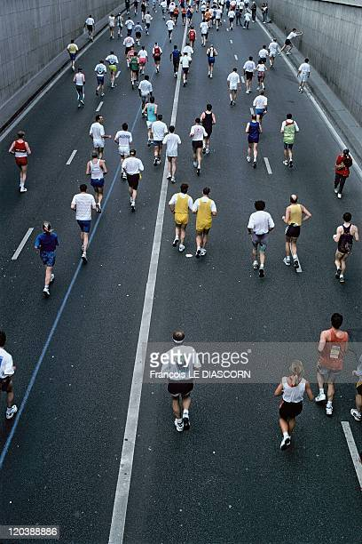 Views of Paris France in April 1997 Marathon