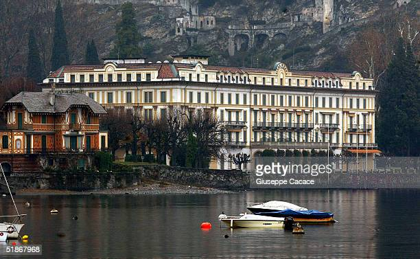 Views of the Hotel Villa D'ESTE on DECEMBER 16 2004 in Cernobbio Italy It is one of the many hang outs used by George Clooney when on holiday in the...