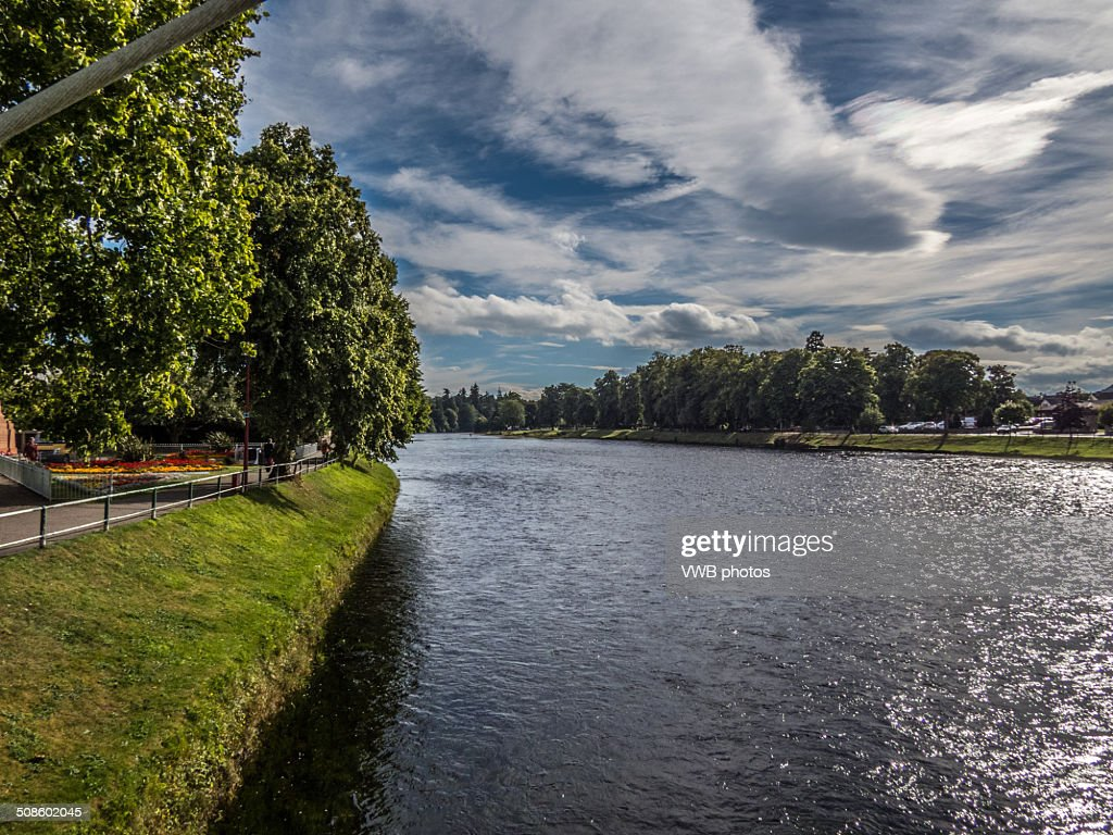 Views of the River Ness, Inverness, Scotland : Foto de stock