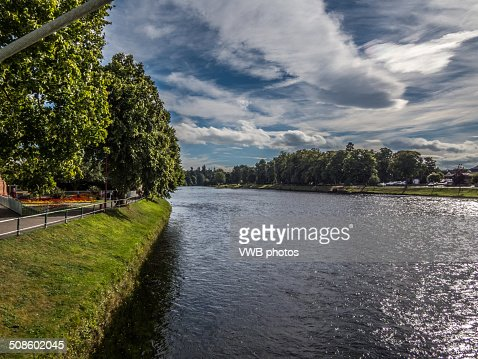 Views of the River Ness, Inverness, Scotland : Stock Photo
