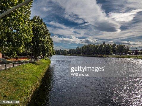 Views of the River Ness, Inverness, Scotland : Foto de stock