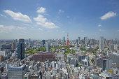 東京タワー方面の眺めViews of the Tokyo Tower district