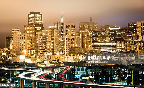 Views over the bridge and San Francisco City