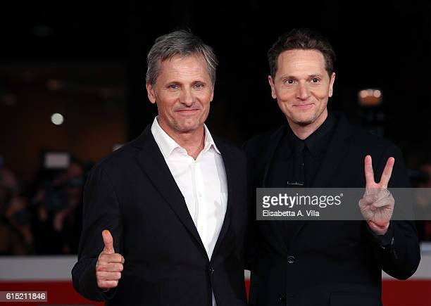 Viggo Mortensen and director Matt Ross walk a red carpet for 'Captain Fantastic' during the 11th Rome Film Festival at Auditorium Parco Della Musica...