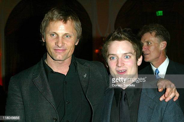 Viggo Mortensen and Elijah Wood during Celebration of New Zealand Filmmaking and Creative Talent at The Beverly Hills Hotel in Beverly Hills...