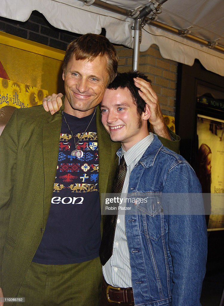 Viggo Mortensen and Elijah Wood during 'Everything is Illuminated' - New York City Premiere at The Landmark Sunshine Cinema in New York, New York, United States.