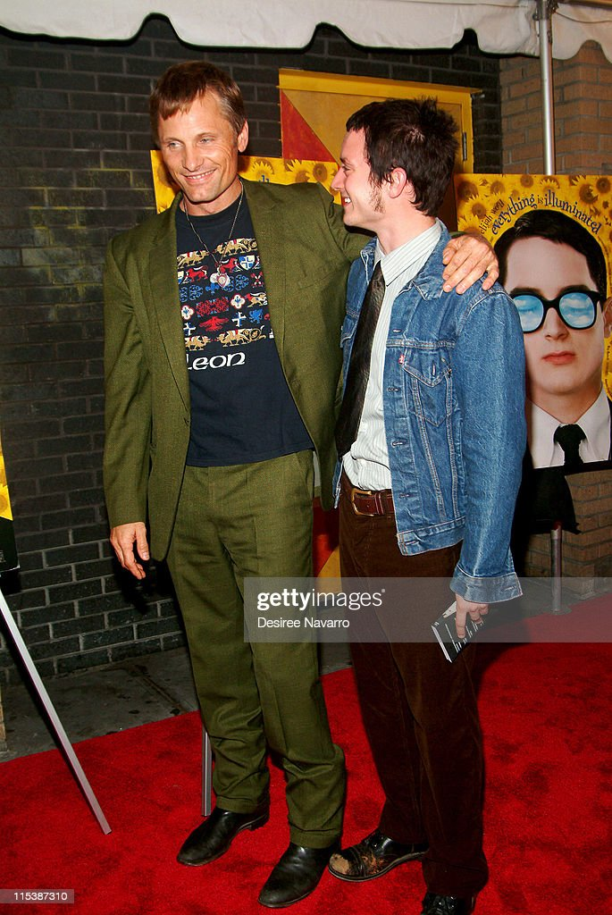 Viggo Mortensen and Elijah Wood during 'Everything is Illuminated' New York City Premiere - Arrivals at Landmark's Sunshine Cinema in New York City, New York, United States.