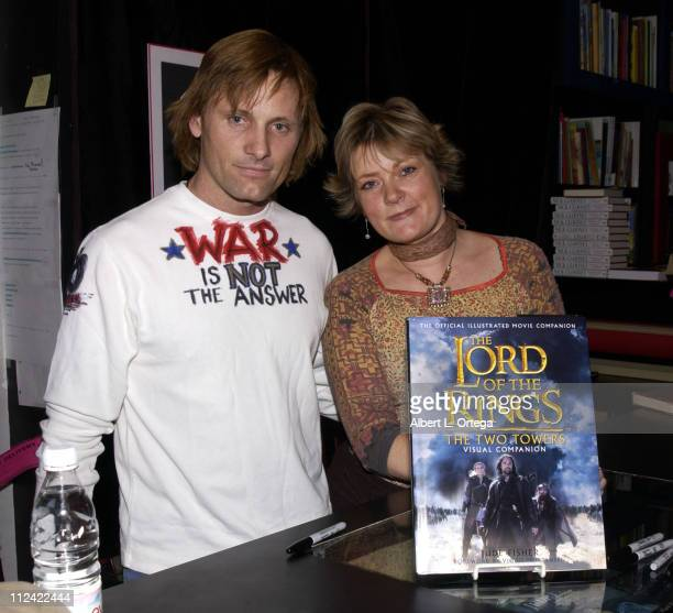 Viggo Mortensen and Jude Fisher during Viggo Mortensen and Jude Fisher Sign Copies of 'The Lord of The Rings The Two Towers' Visual Companion at Book...