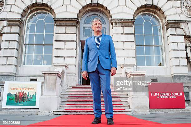Viggo Mortensen arrives for the 'Captain Fantastic' UK film premiere part of the Film4 Summer Series at Somerset House on August 17 2016 in London...