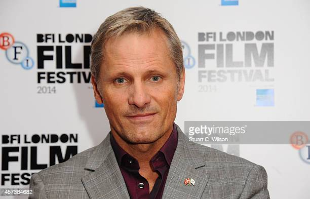 Viggo Mortensen attends the red carpet arrivals of 'Jauja' during the 58th BFI London Film Festival at Vue Leicester Square on October 17 2014 in...
