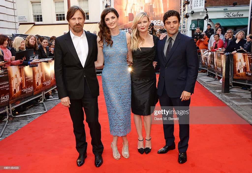 Viggo Mortensen Daisy Bevan Kirsten Dunst and Oscar Isaac attend the UK Premiere of 'The Two Faces Of January' at The Curzon Mayfair on May 13 2014...