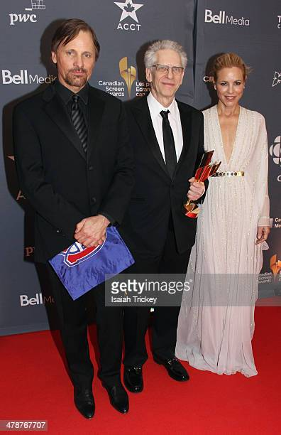 Viggo Mortensen David Cronenberg and Maria Bello attend the Canadian Screen Awards CBC Broadcast Gala at Sony Centre for the Performing Arts on March...