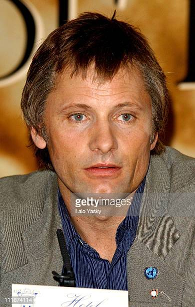 Viggo Mortensen during 'Hidalgo' Press Conference Madrid at Villamagna Hotel in Madrid Spain
