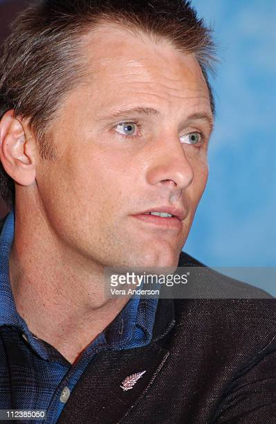 Viggo Mortensen during 'The Lord of the Rings The Return of the King' Press Conference with Elijah Wood Orlando Bloom Liv Tyler Ian McKellen Peter...
