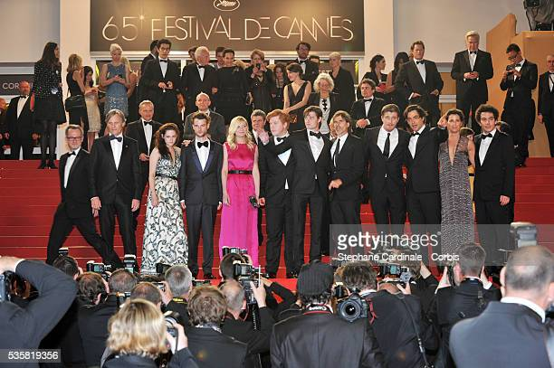 Viggo Mortensen Kirsten Dunst Walter Salles Garret Hedlund Kristen Stewart Sam Riley Tom Sturridge and Danny Morgan at the premiere for 'On The Road'...