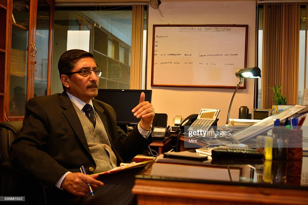 Vijay Chhibber, Road Transport & Highways Secretary, poses during an exclusive interview on December 31, 2015 in New Delhi, India.