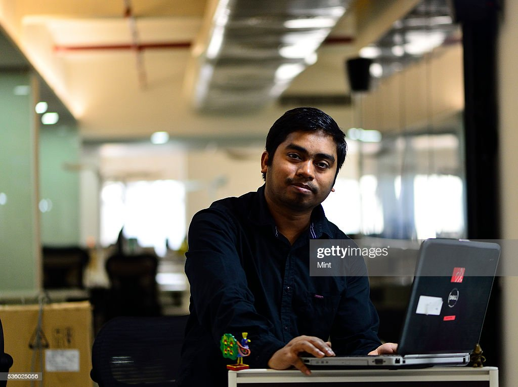 Vijay Majhi, IT Specialist, poses for a profile shoot at his office on December 5, 2015 in New Delhi, India.