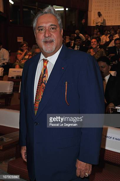 Vijay Mallya attends the ISRO Satellite Center visit on December 4 2010 in Bangalore India French President Nicolas Sarkozy is on a fourday working...