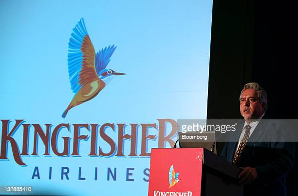 Vijay Mallya chairman of Kingfisher Airlines Ltd speaks during a news conference in Mumbai India on Tuesday Nov 15 2011 Mallya said the carrier will...