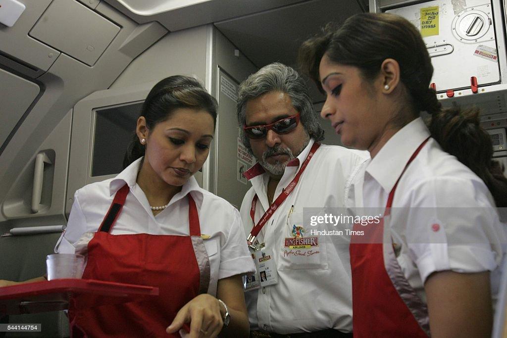 Vijay Mallya in his Kingfisher airline.