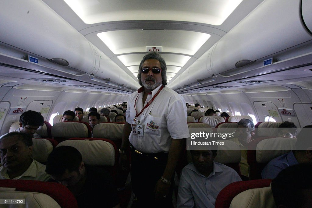 Vijay Mallya in his Kingfisher Airline.