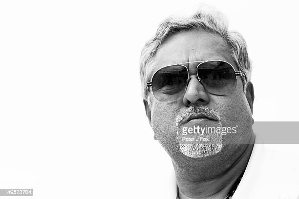 Vijay Mallya of India and Force India during the Hungarian Formula One Grand Prix at the Hungaroring on July 29 2012 in Budapest Hungary
