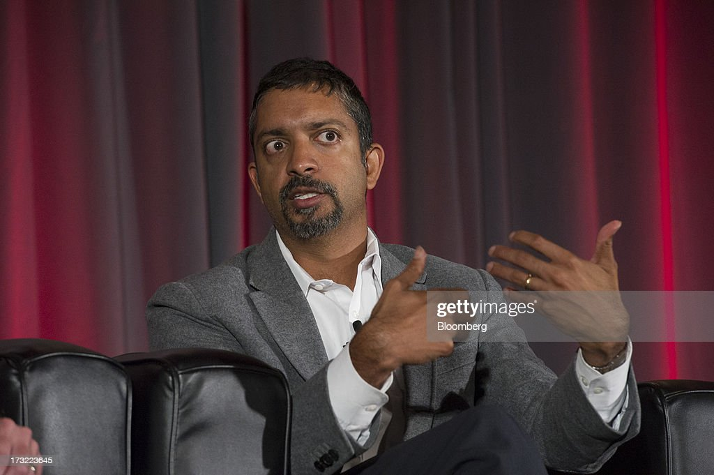 Vijay Sankaran, chief technology director of Ford Motor Co., speaks during the MobileBeat Conference in San Francisco, California, U.S., on Tuesday, July 9, 2013. MobileBeat, VentureBeat's sixth annual flagship conference on the future of mobile, gathers members of the industry to look beyond design and implement a fully integrated experience. Photographer: David Paul Morris/Bloomberg via Getty Images