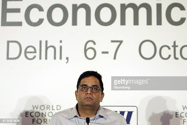 Vijay Shekhar Sharma founder and chairman of One97 Communications Ltd operator of PayTM attends the World Economic Forum India Economic Summit in New...