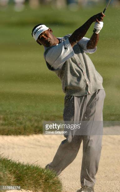 Vijay Singh in action during the final round of the PGA Tour's 2004 ATT Pebble Beach National ProAm at Pebble Beach Golf Links February 8 2004