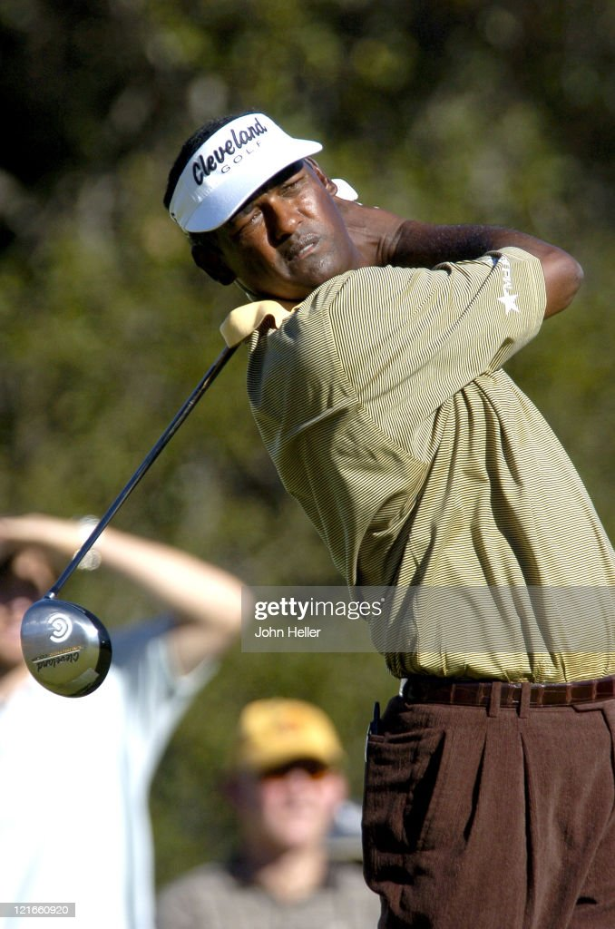 <a gi-track='captionPersonalityLinkClicked' href=/galleries/search?phrase=Vijay+Singh&family=editorial&specificpeople=179484 ng-click='$event.stopPropagation()'>Vijay Singh</a> on the 10th tee during the second round of the Target World Challenge Presented by Williams at Sherwood Counrty Club in Thousand Oaks, California on December 10, 2004.
