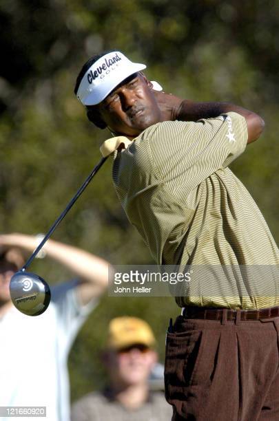Vijay Singh on the 10th tee during the second round of the Target World Challenge Presented by Williams at Sherwood Counrty Club in Thousand Oaks...
