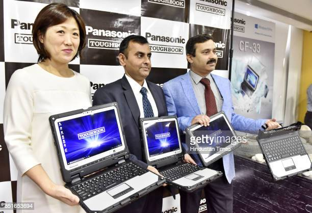 Vijay Wadhwan Business Head System and Solution Business Panasonic India with Eriko Okuda Head of Mobile Solution Business Division and Gunjan...
