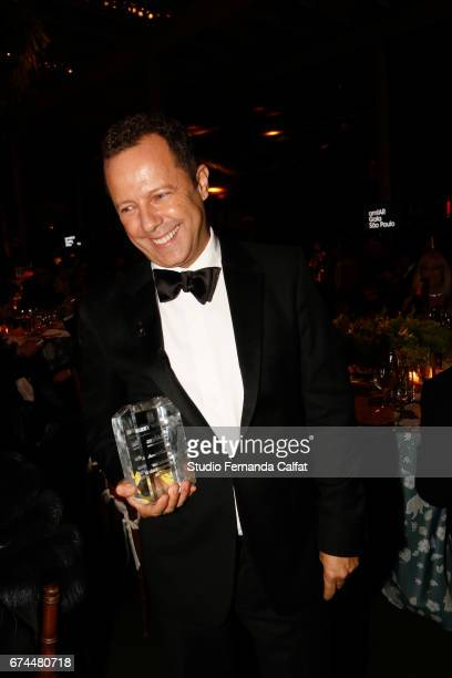 Vik Muniz attends the 7th Annual amfAR Inspiration Gala on April 27 2017 in Sao Paulo Brazil
