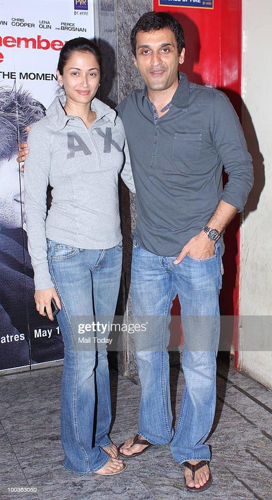 Vikas and Gayatri Oberoi at the preview of the film Kites in Mumbai on May 20, 2010.