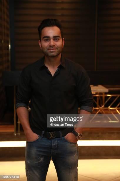 Vikas Kohli brother of Virat Kohli during special dinner for Royal Challengers Bangalore teammates by Virat Kohli at his new restaurant Nueva RK...
