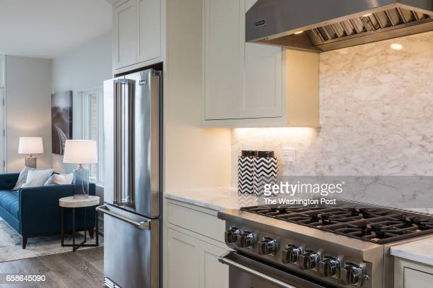 Viking brand Stove and Refridgerator in the Penthouse on March 20 2017 in Washington DC