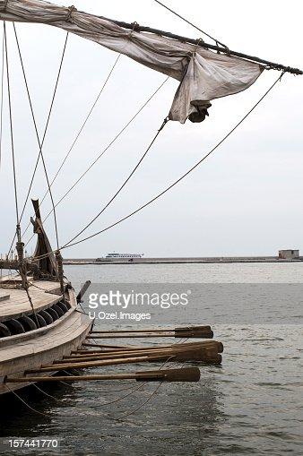 Viking style sailboat image series...