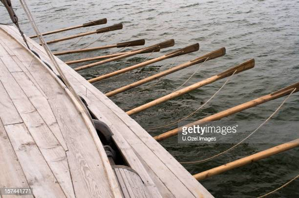 Viking style sailboat