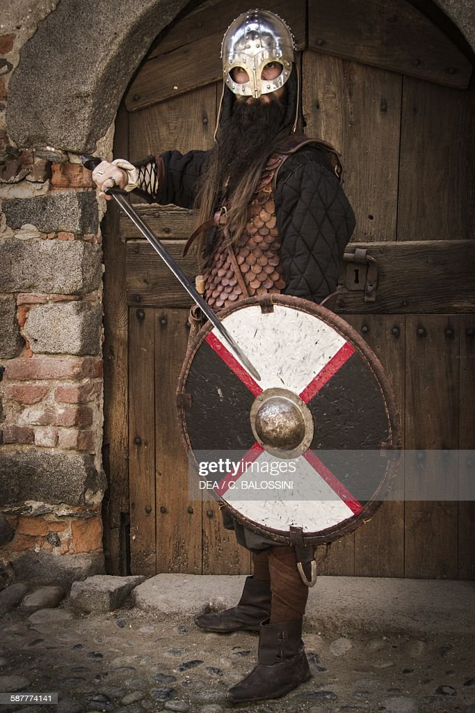 Viking warrior with helmet... Pictures | Getty Images
