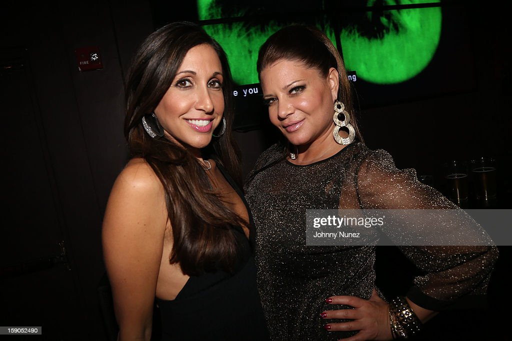 Vikki Ziegler and Karen Gravano attend VH1's 'Mobwives' Season 3 Premiere Viewing Party at Frames Bowling Lounge on January 6, 2013 in New York City.