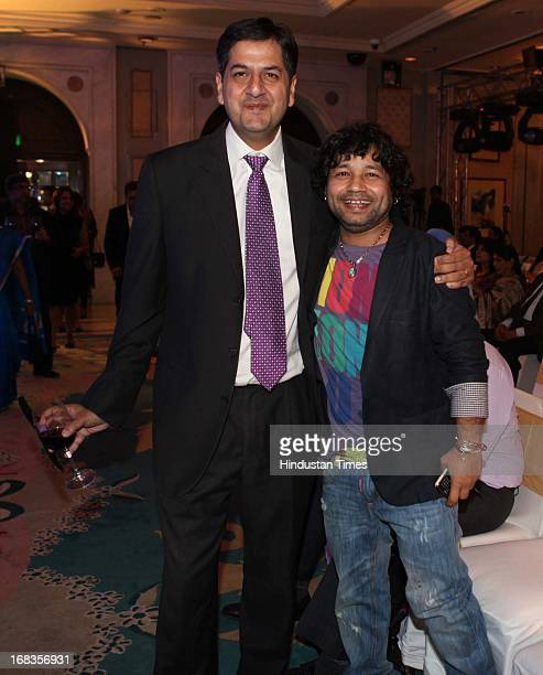 Vikram Chandra with Kailash Kher at HT City Crystal Awards being held at Maurya Sheraton Hotel on October 29 2010 in New Delhi India