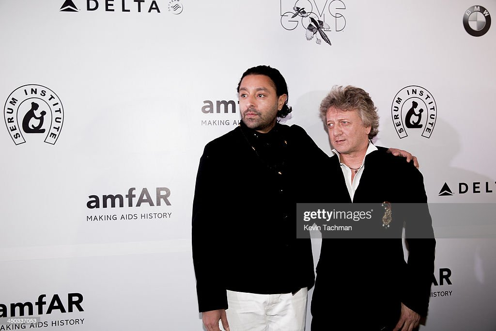 <a gi-track='captionPersonalityLinkClicked' href=/galleries/search?phrase=Vikram+Chatwal&family=editorial&specificpeople=871345 ng-click='$event.stopPropagation()'>Vikram Chatwal</a> and Rohit Bal attend the inaugural amfAR India event at the Taj Mahal Palace Mumbai on November 17, 2013 in Mumbai, India.
