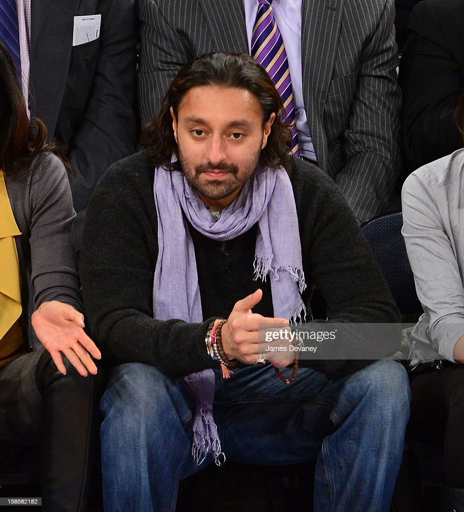 Vikram Chatwal attends the Brooklyn Nets vs New York Knicks game at Madison Square Garden on December 19, 2012 in New York City.