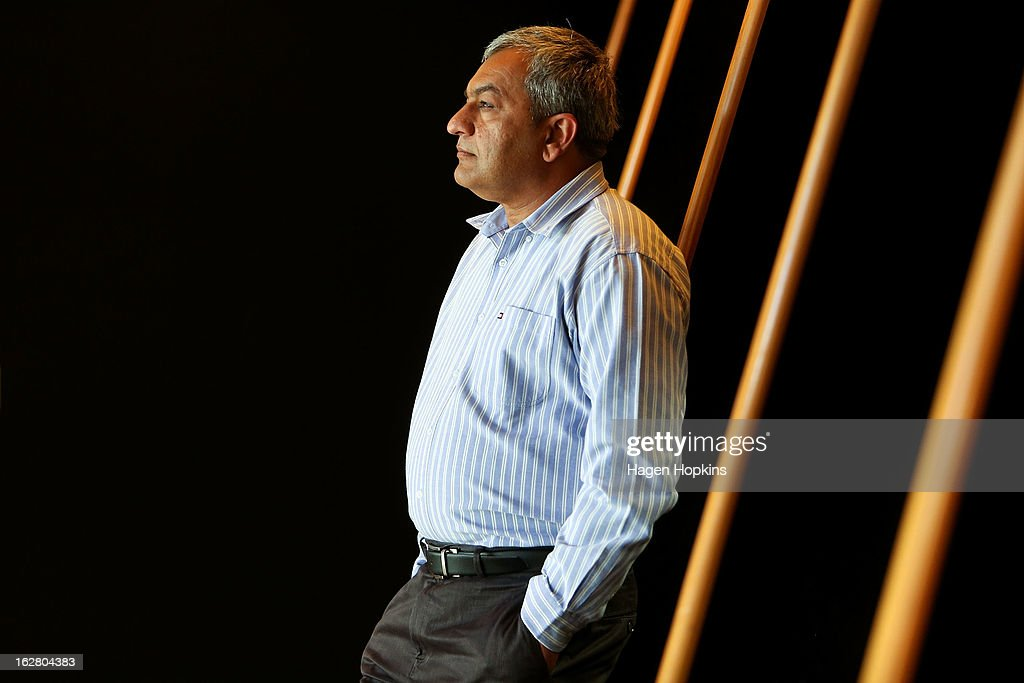 CEO, Vikram Kumar poses during a portrait session on February 21, 2013 in Wellington, New Zealand. Kumar is CEO of the new cloud storage business, MEGA, launched by Kim Dotcom in Auckland in January.