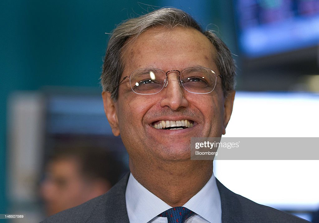 <a gi-track='captionPersonalityLinkClicked' href=/galleries/search?phrase=Vikram+Pandit&family=editorial&specificpeople=5610048 ng-click='$event.stopPropagation()'>Vikram Pandit</a>, chief executive officer of Citigroup Inc., smiles during an interview from the floor of the New York Stock Exchange (NYSE) in New York, U.S., on Monday, June 18, 2012. Citigroup Inc. is boosting revenue at its corporate and investment banking unit in Asia with rising fees from debt underwriting and cash management as initial public offerings shrink. Photographer: Jin Lee/Bloomberg via Getty Images