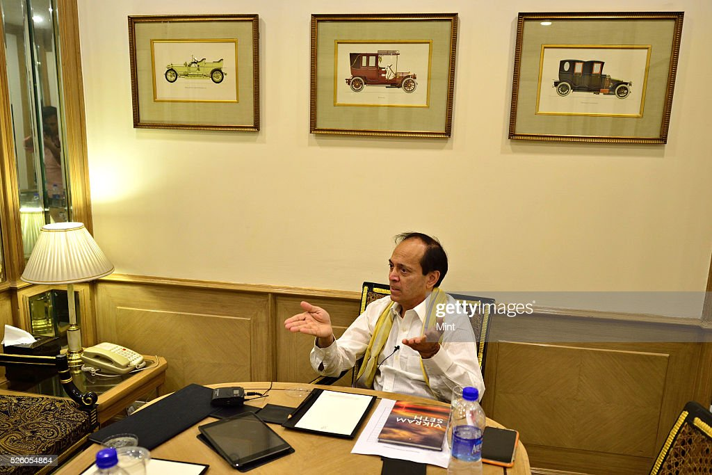 Vikram Seth - Indian novelist and poet posing on October 19, 2015 in New Delhi, India.