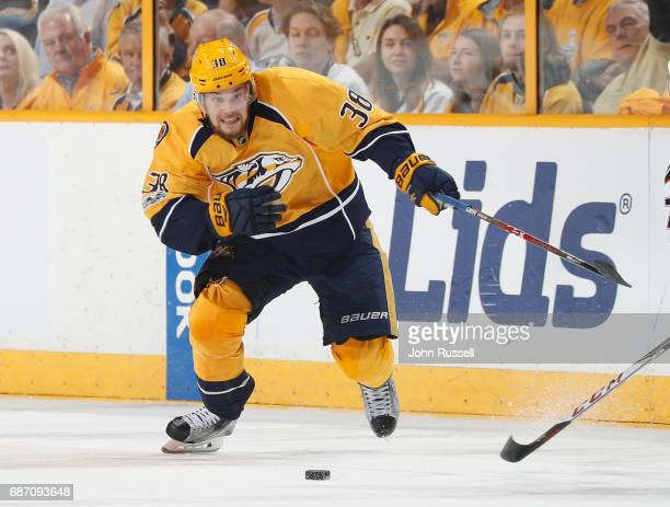 Viktor Arvidsson of the Nashville Predators skates against the Anaheim Ducks in Game Four of the Western Conference Final during the 2017 NHL Stanley...